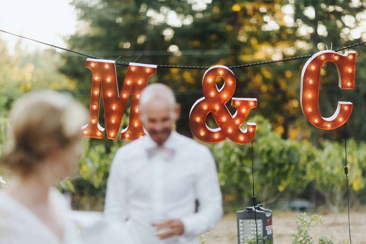 large marquee letters vancouver wedding