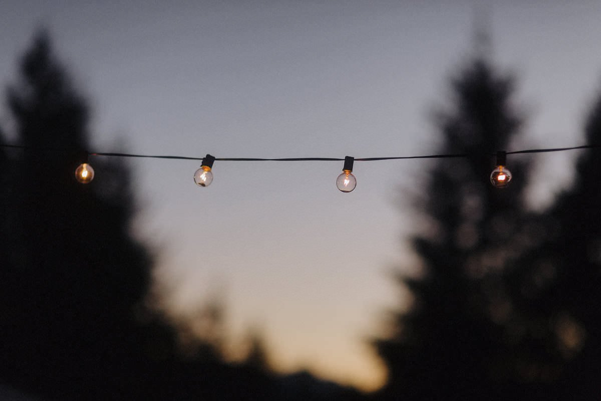 globe string lights vancouver wedding