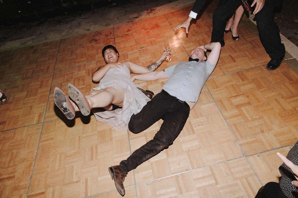 hipster rocker wedding dance party