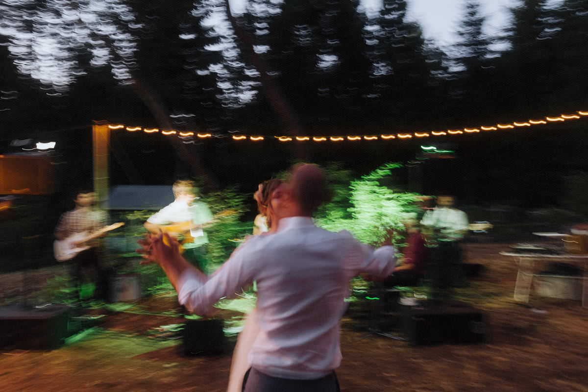 intentional blur wedding dance photo