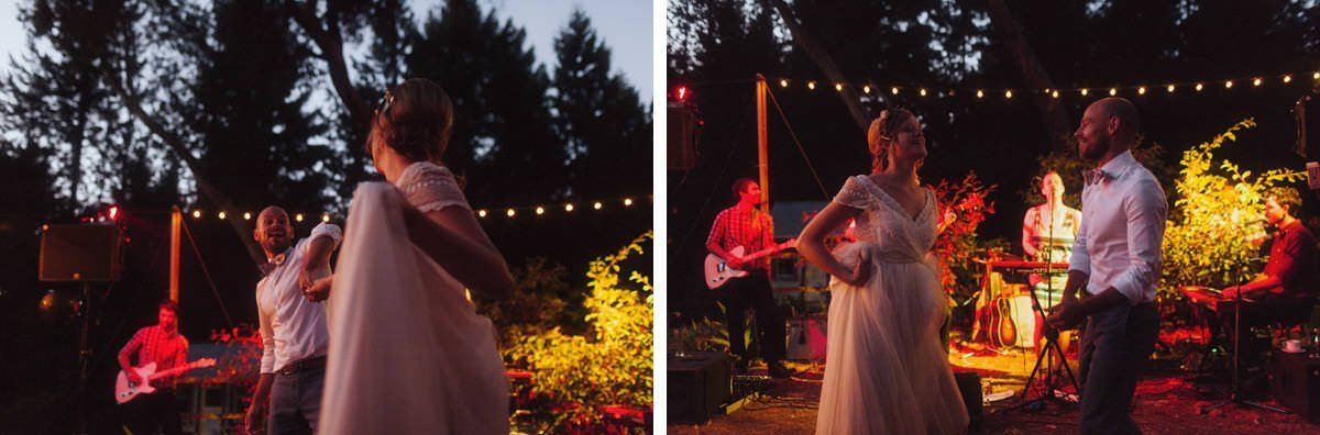 saltspring island wedding reception