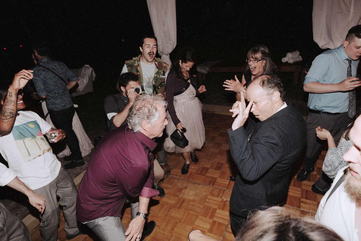 squamish campsite wedding reception