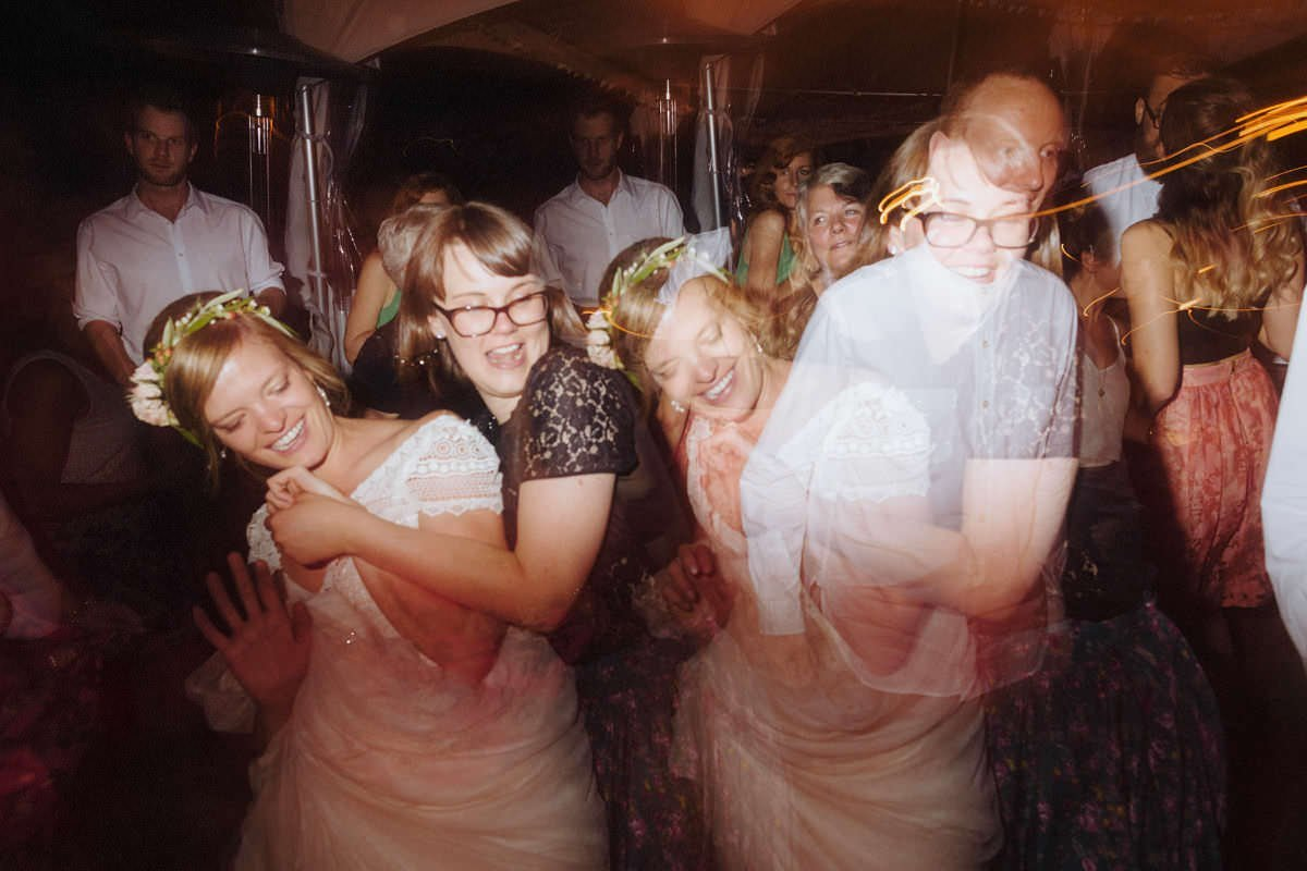 interesting double exposure photo at vancouver wedding