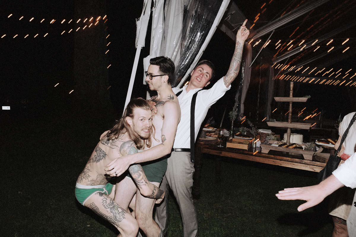 rockabilly tattooed wedding party vancouver