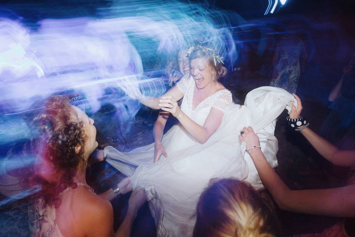 bride dancing at westcoast wilderness lodge