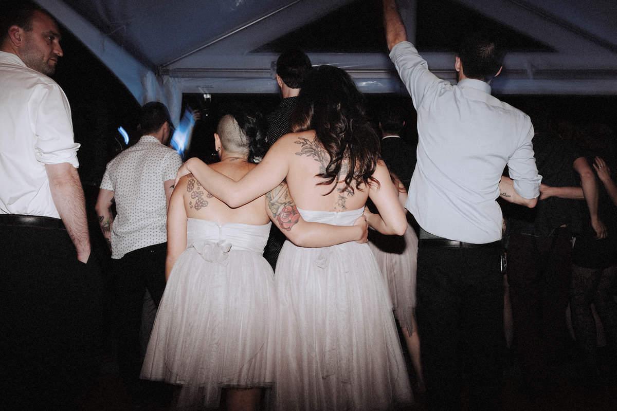 rockabilly bridesmaids whistler