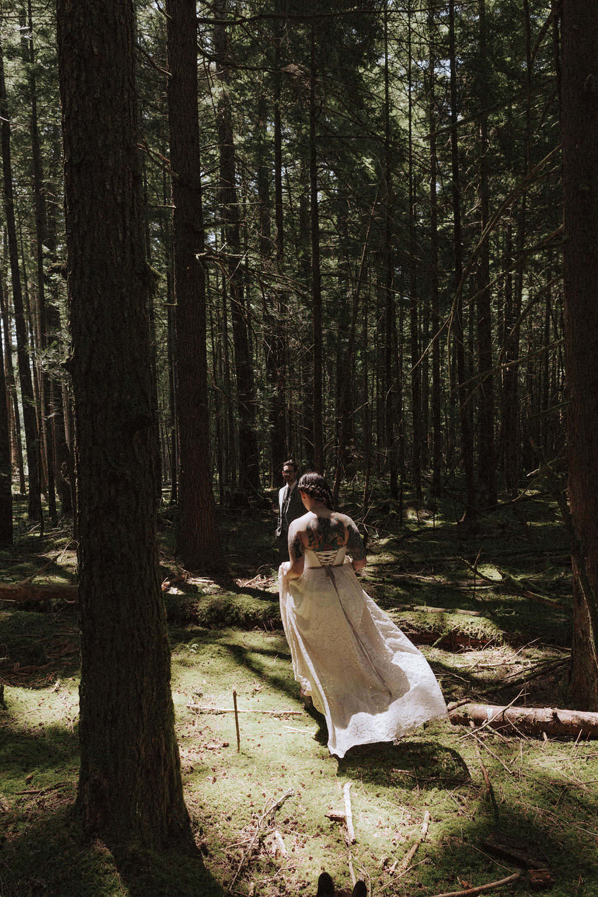 pnw forest elopement squamish