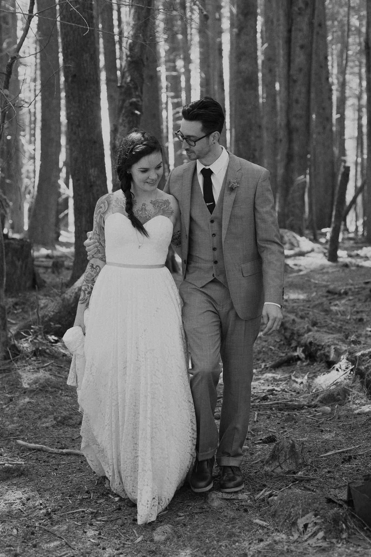 hipster wedding couple vancouver