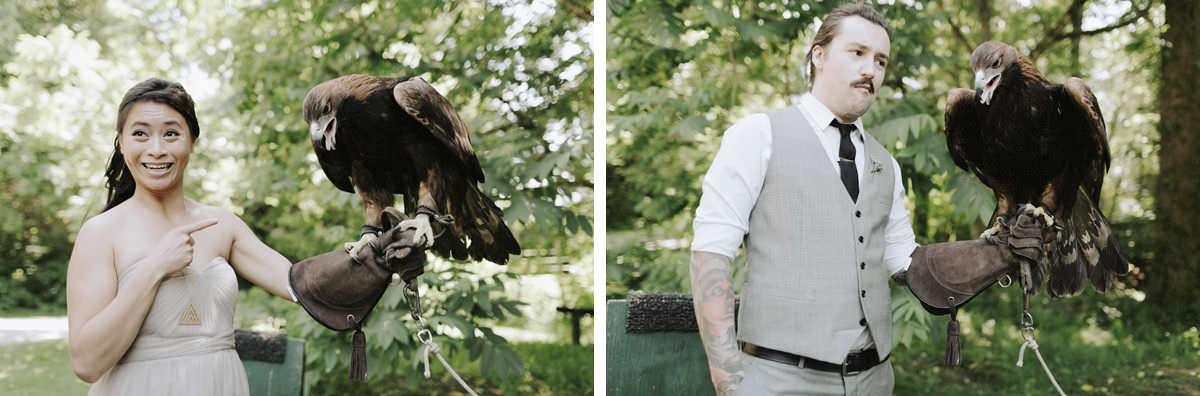 birds of prey wedding hire vancouver