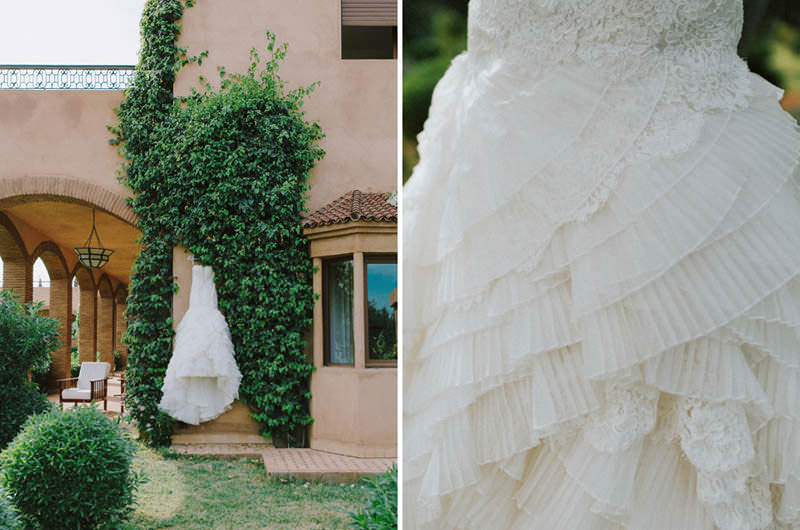 lazaro wedding gown closeup
