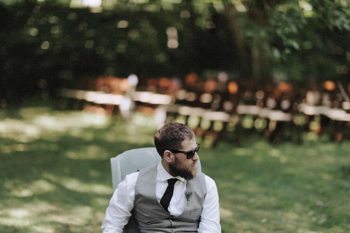 hipster groom with beard