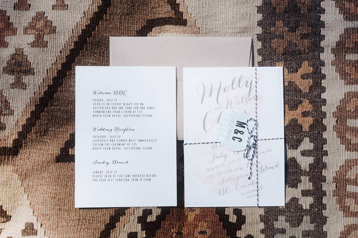 rustic boho wedding stationery