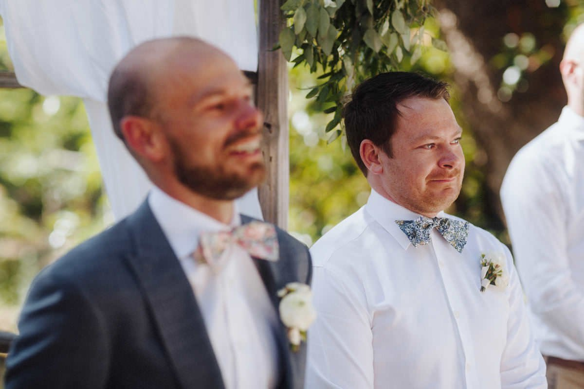 crying groomsman vancouver island wedding