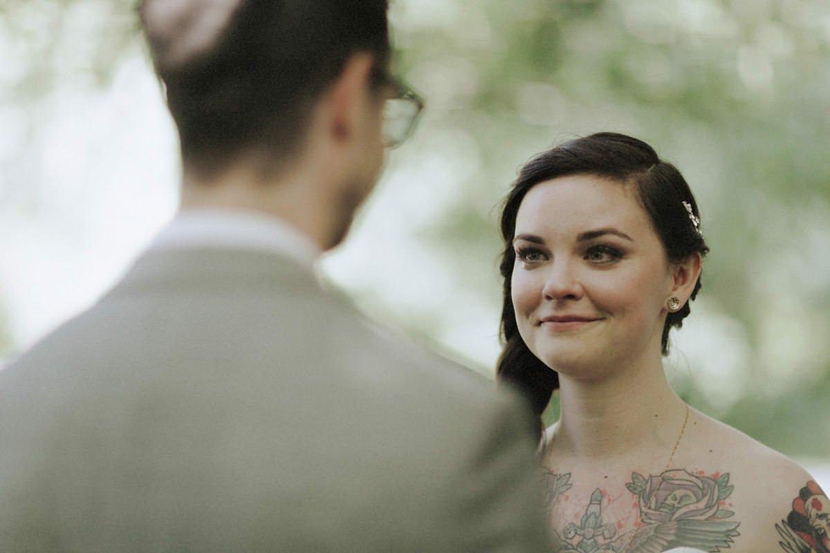 intimate whistler forest wedding