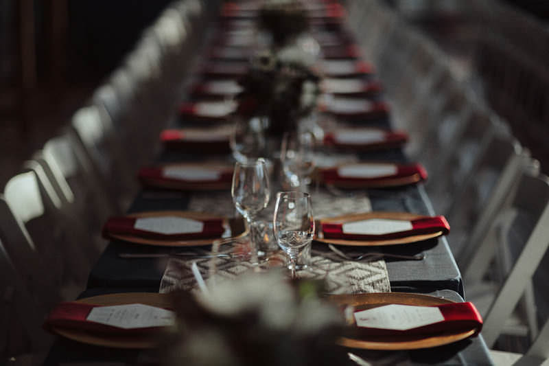 geometric wedding table setting vancouver