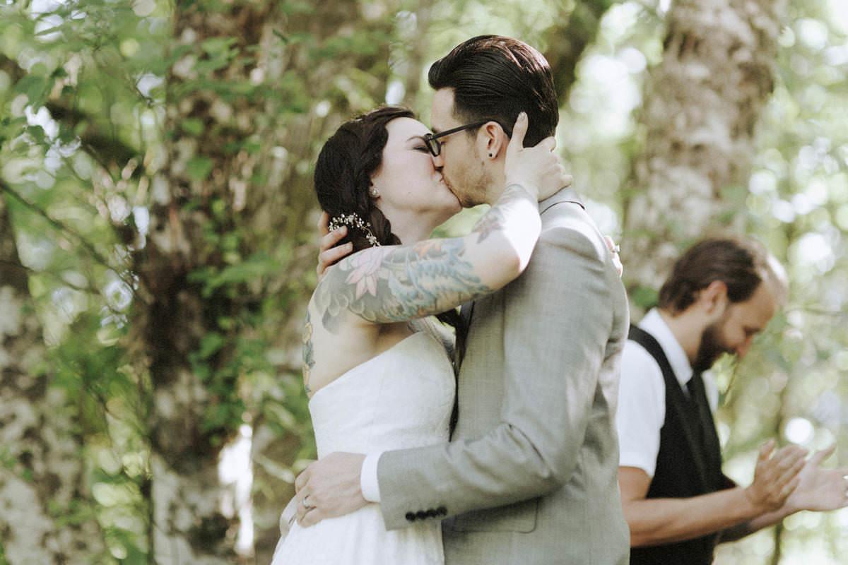 tattooed bride and groom whistler wedding