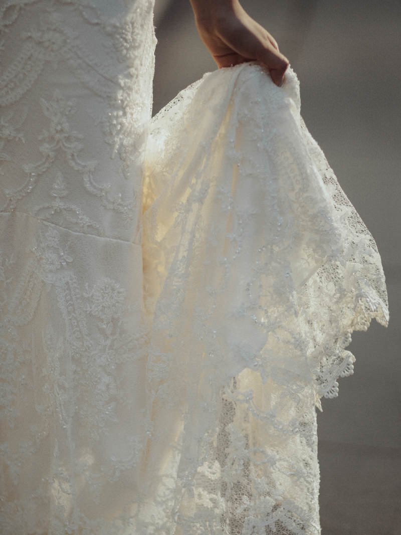 claire pettibone chantilly lace closeup