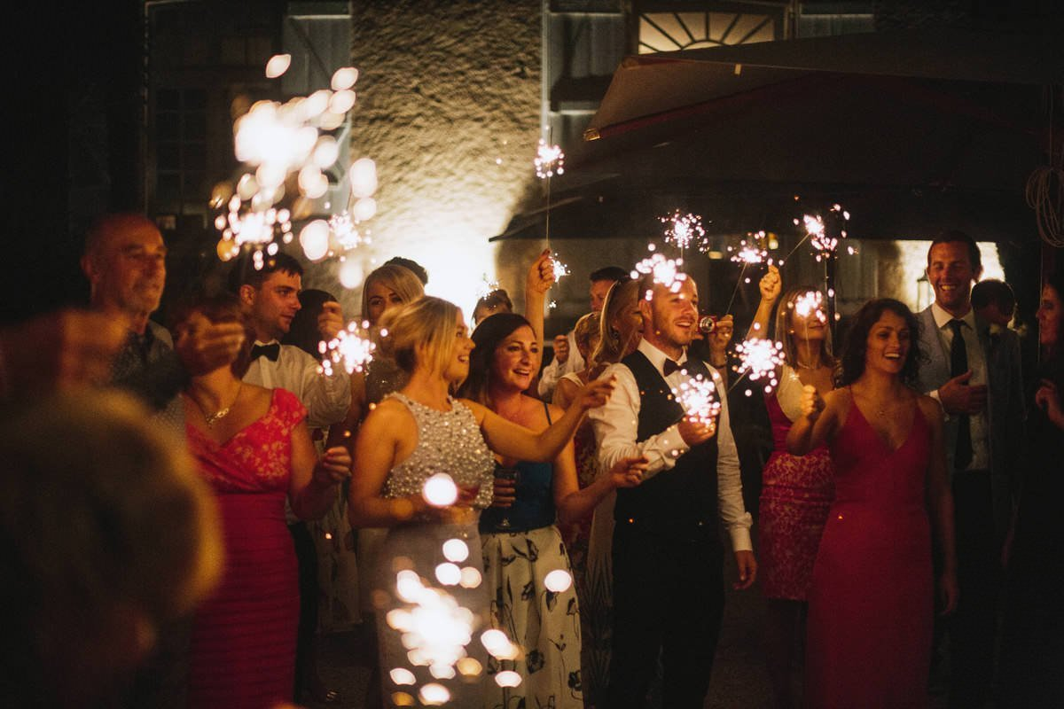 sparklers south france wedding