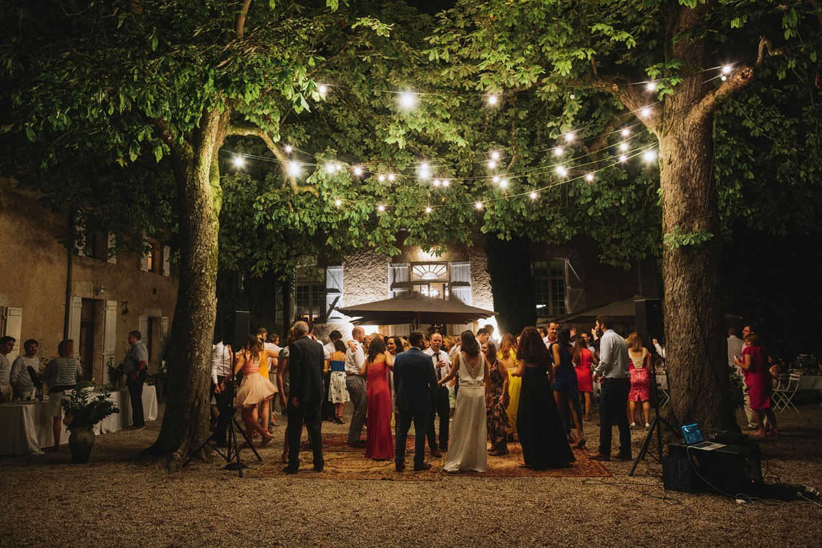 outdoor wedding receptions french chateau