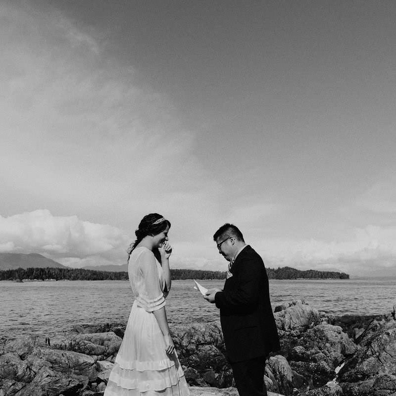 bowen island intimate wedding
