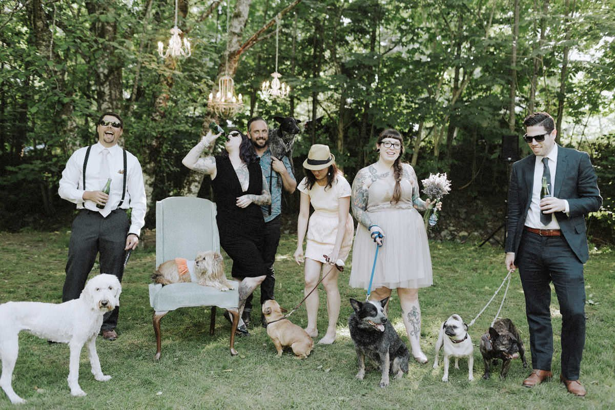 fun squamish campground weddings