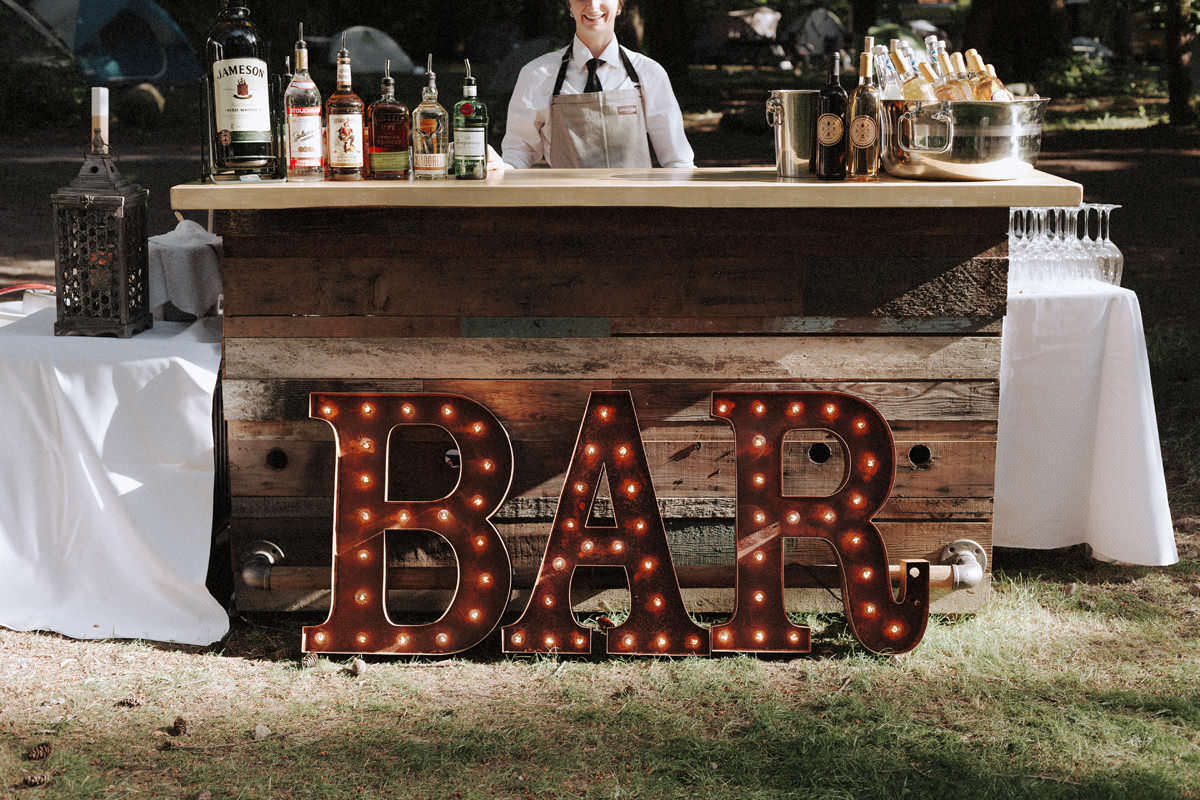 marquee letters for wedding bar
