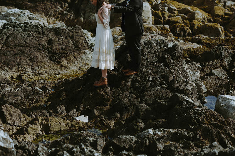 british columbia seaside elopement