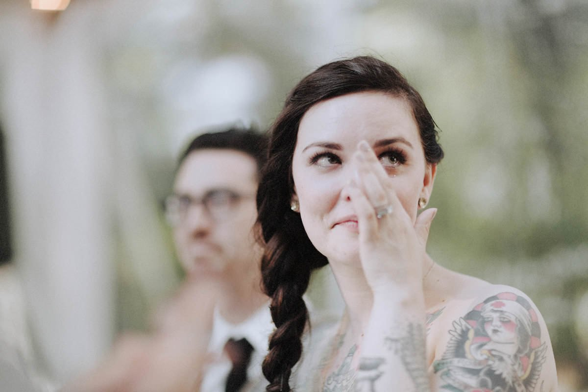 crying tattooed bride vancouver