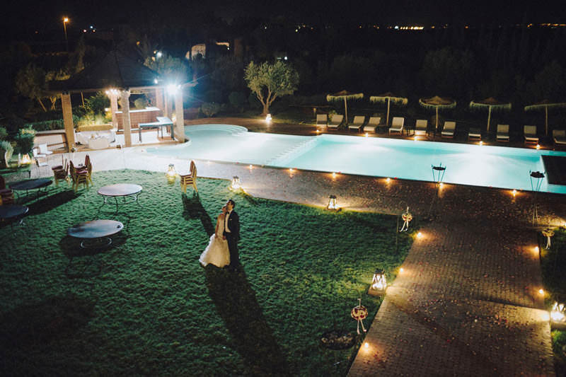 night time destination morocco wedding