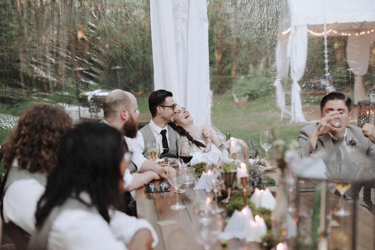 bride laughing whistler wedding