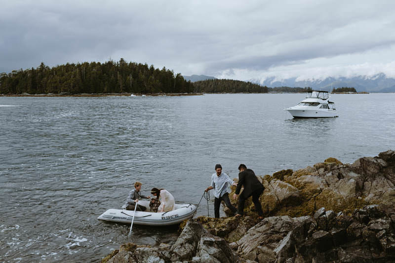 seaside elopement british columbia