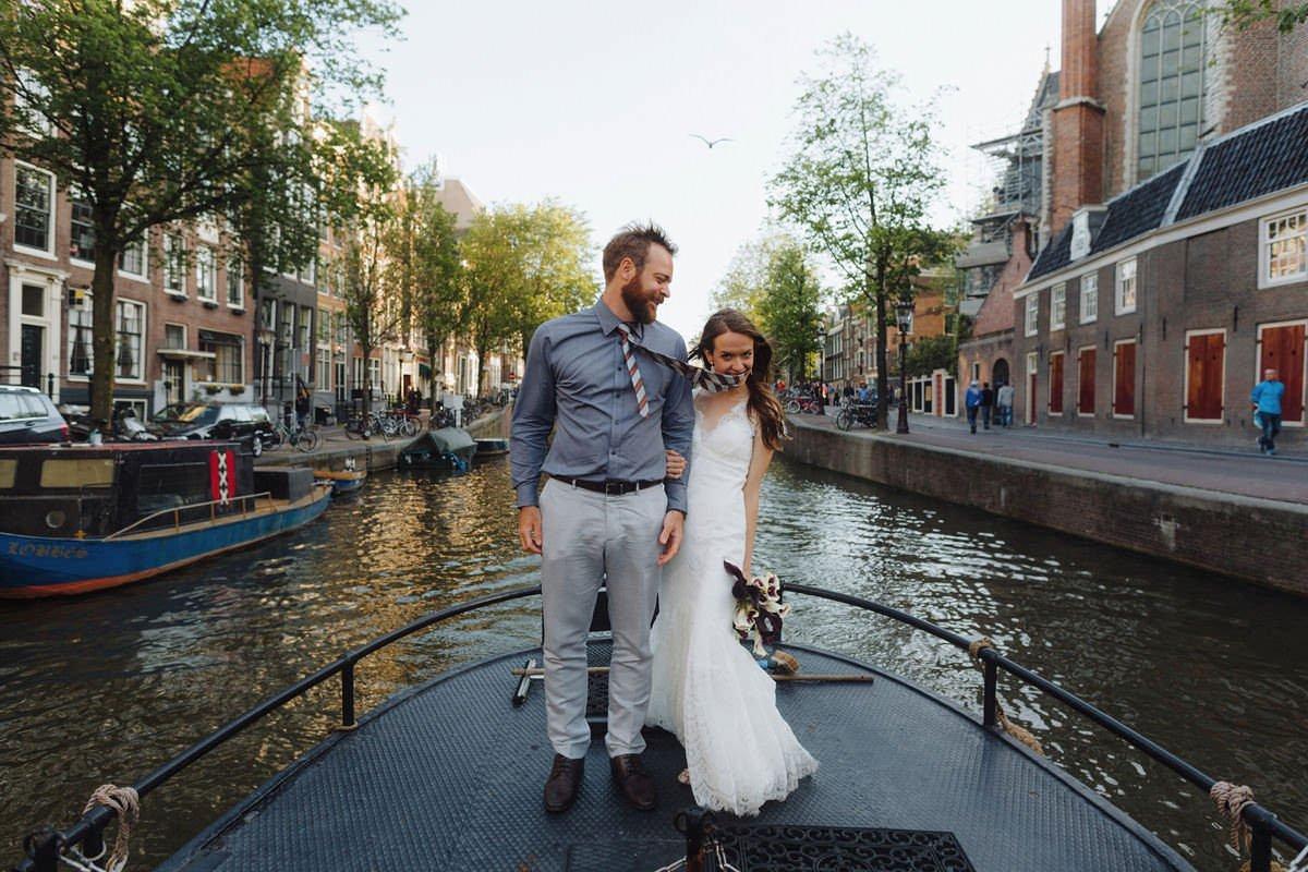 Destination Amsterdam Canal Weddings