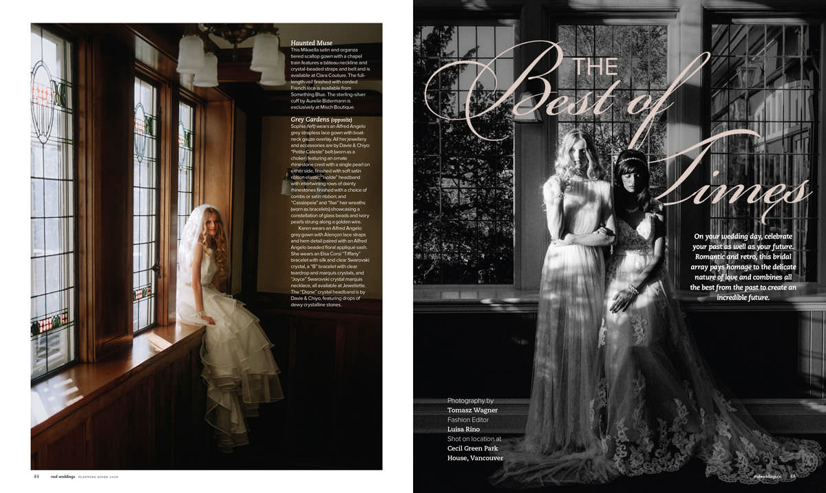 real weddings magazine bridal editorial with luisa rino