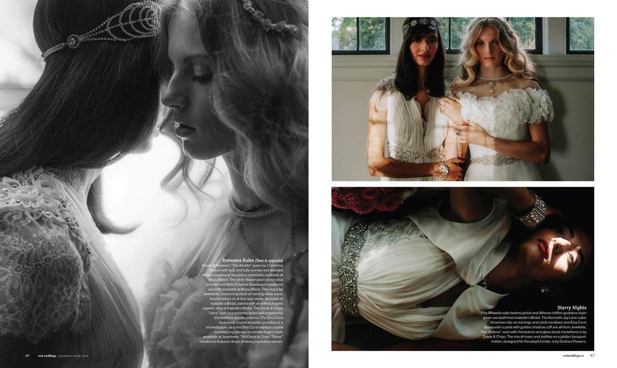 fine art bridal editorial in real weddings magazine