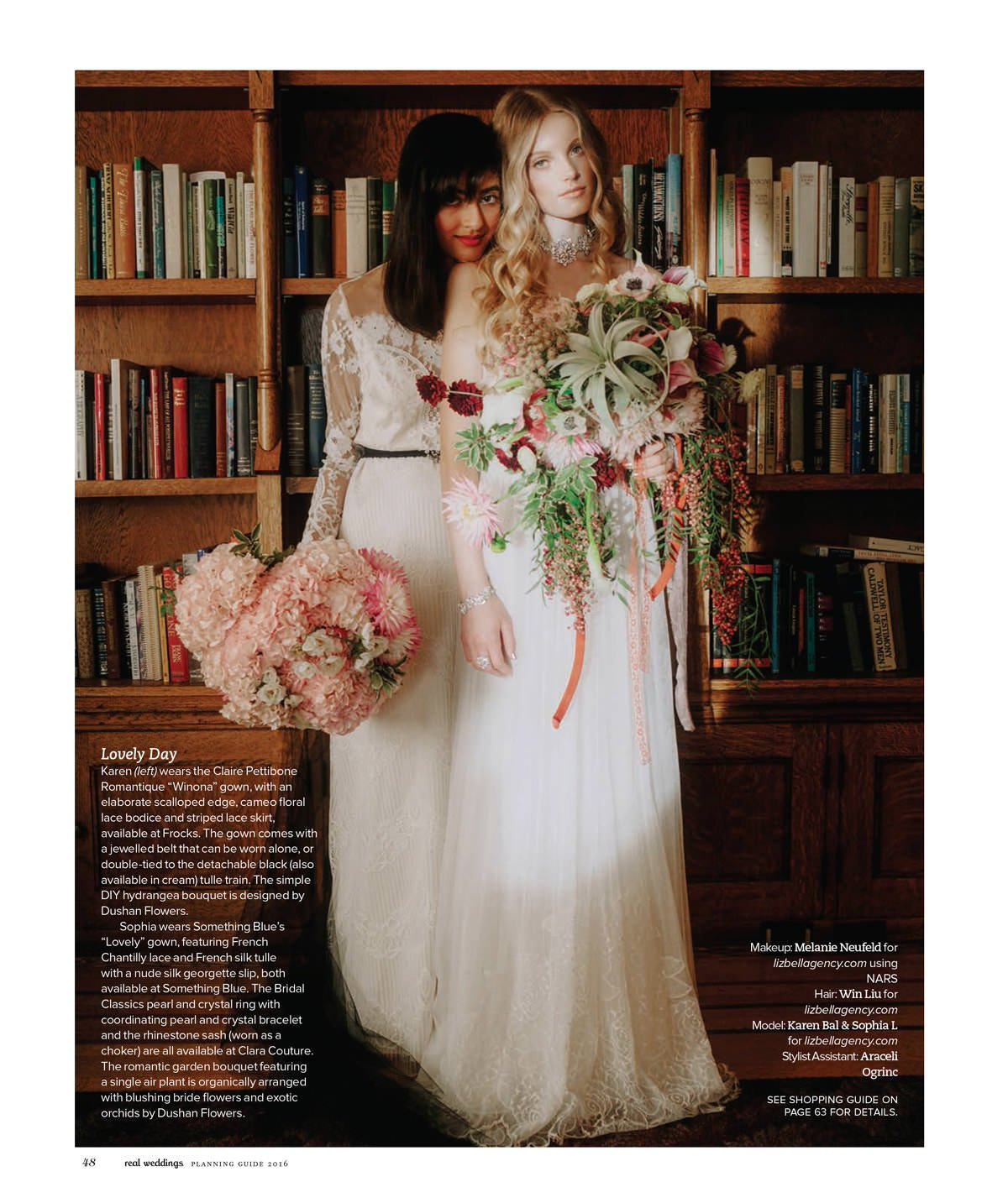 bridal editorial with exotic bouquets