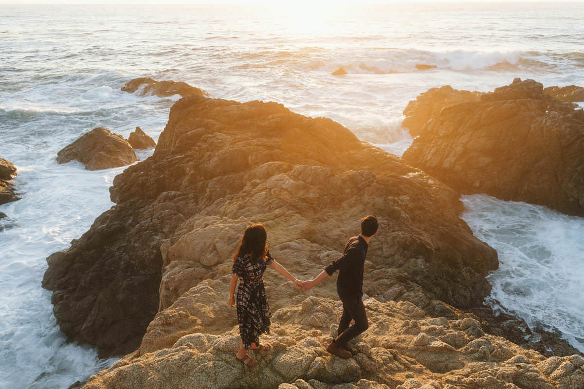 big sur sunset elopement