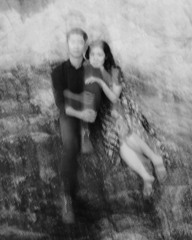 double exposure portrait taken at big sur