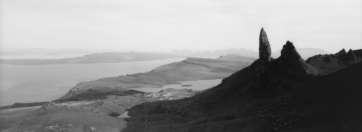 old man of storr photographed on 35mm hasselblad xpan