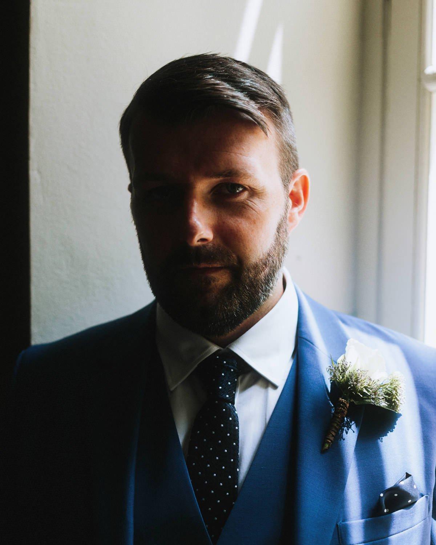 irish groom at destination wedding in france