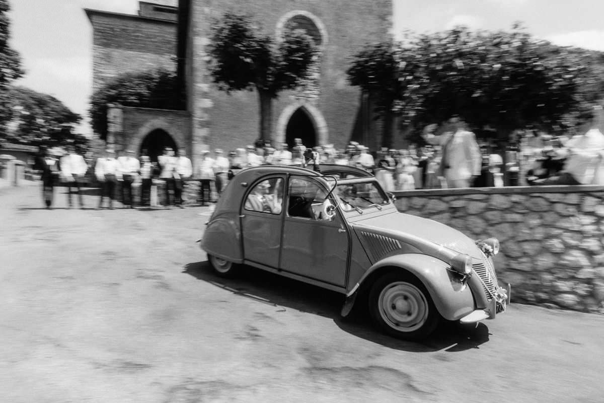 citroen car at south of france wedding