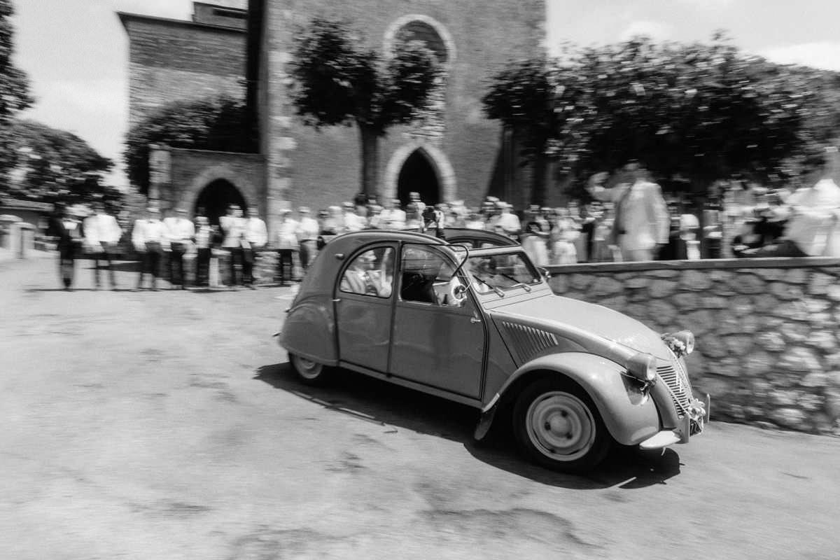 citroen car at south of france wedding
