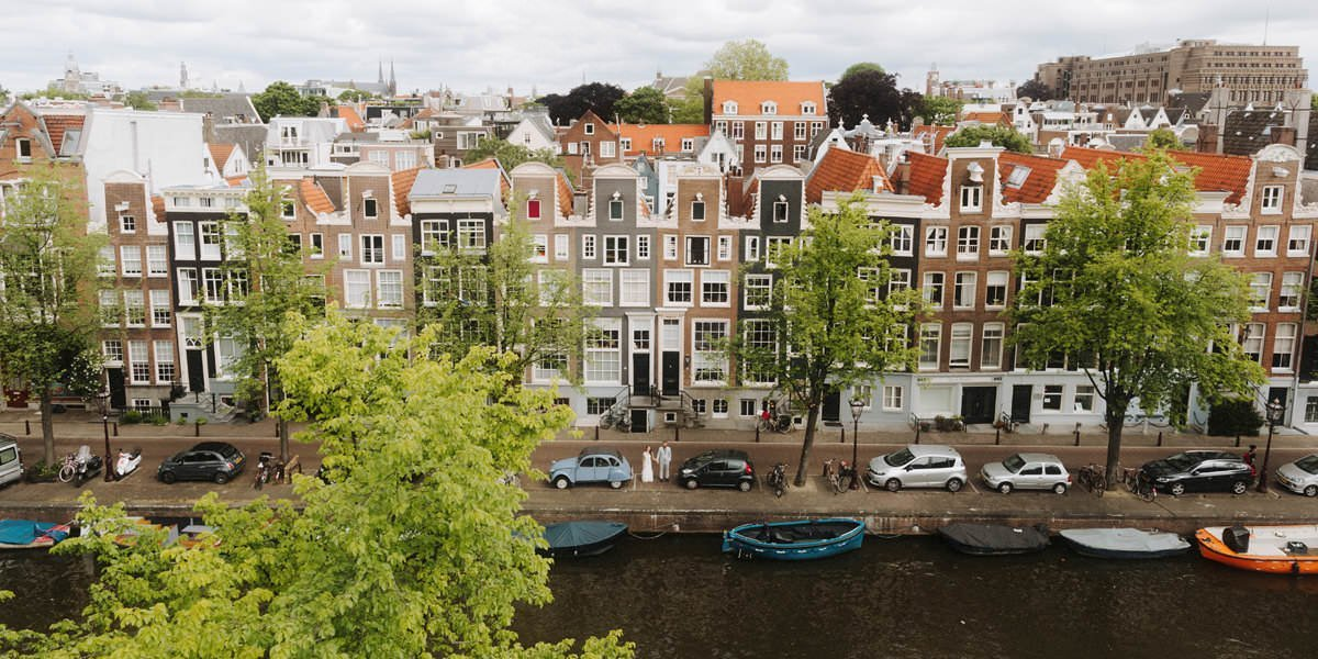 birds eye view at amsterdam wedding