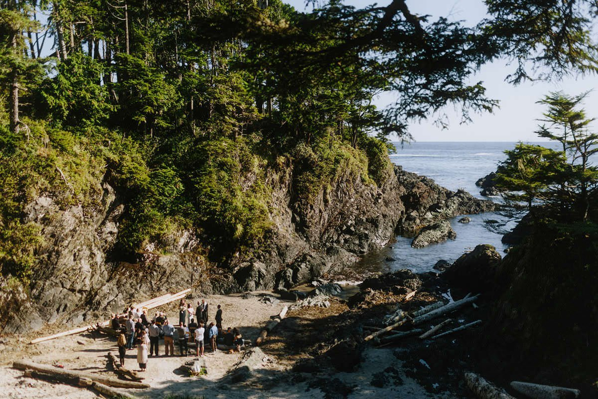 weddings at browns beach in ucluelet