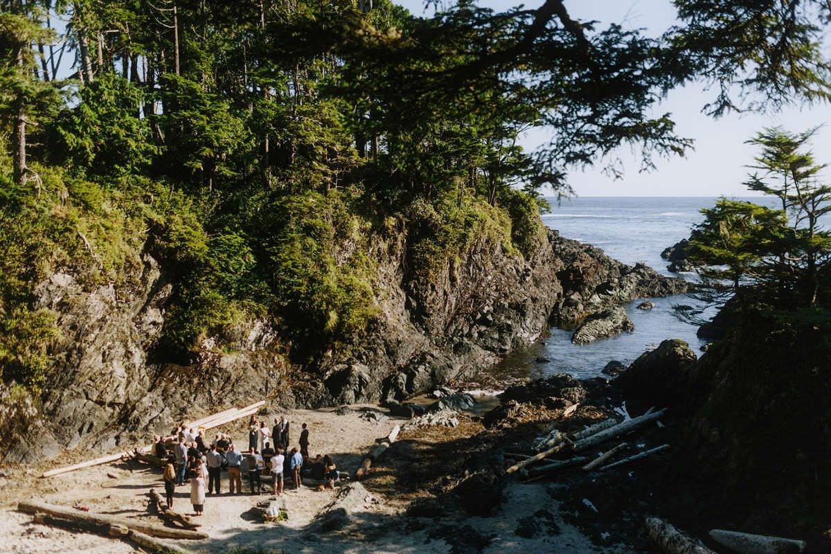 weddings at browns beach in ucluelet