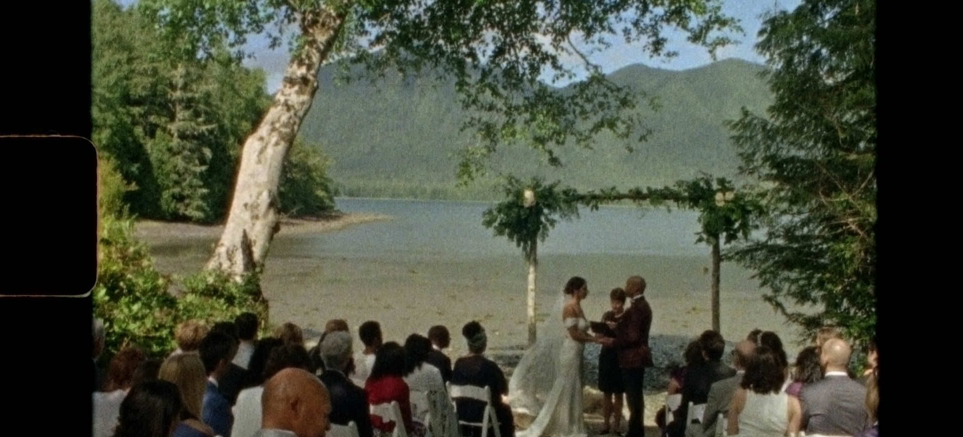 super 8mm wedding film, tofino botanical gardens