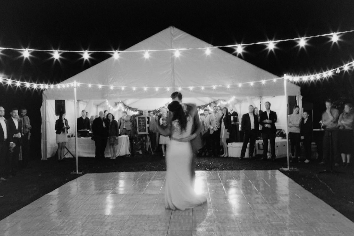 wedding venues string lighting Vancouver