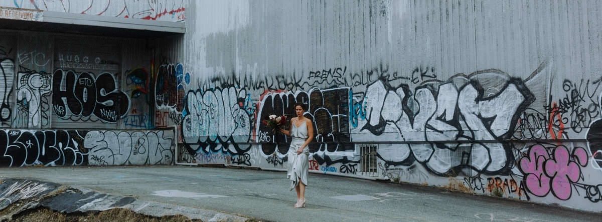 industrial city wedding