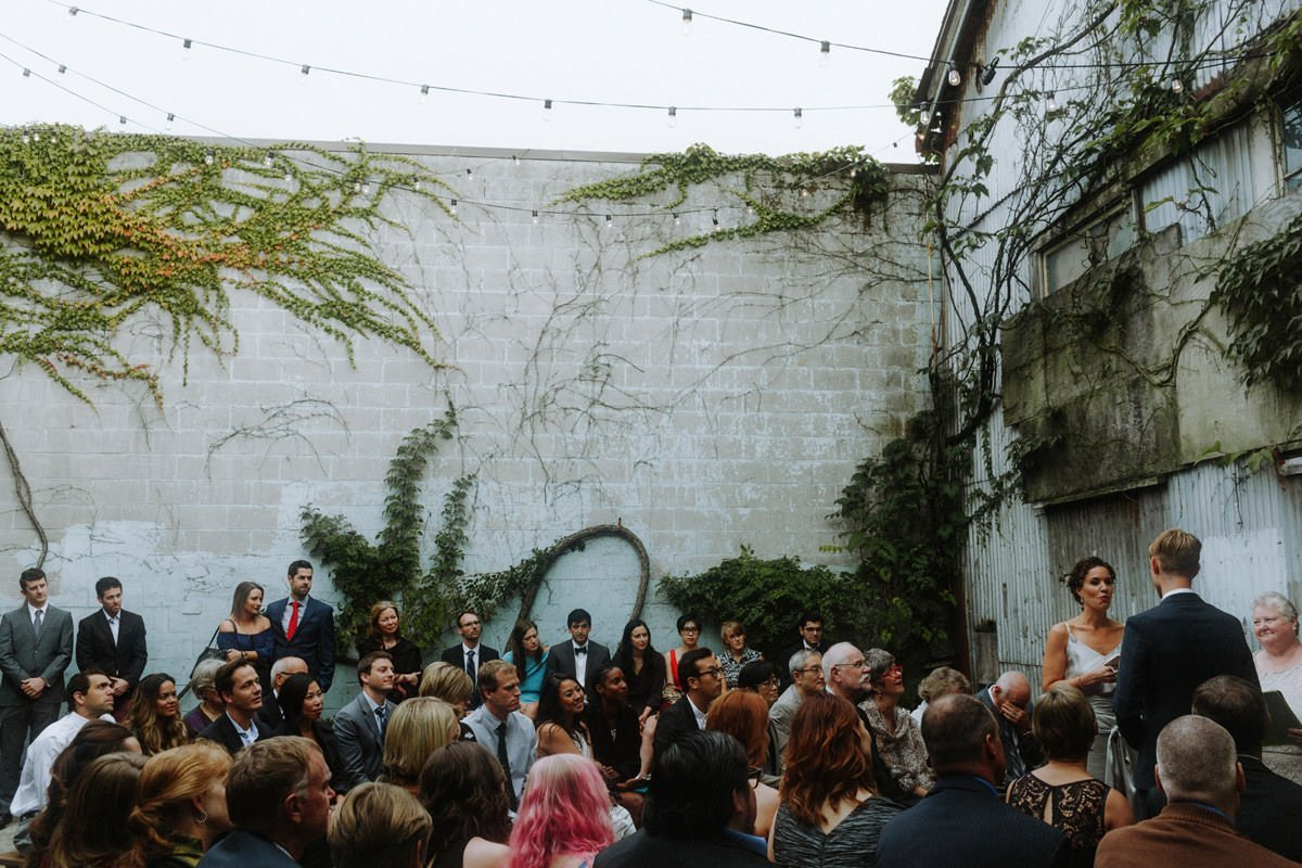 industrial vancouver wedding venues with a courtyard