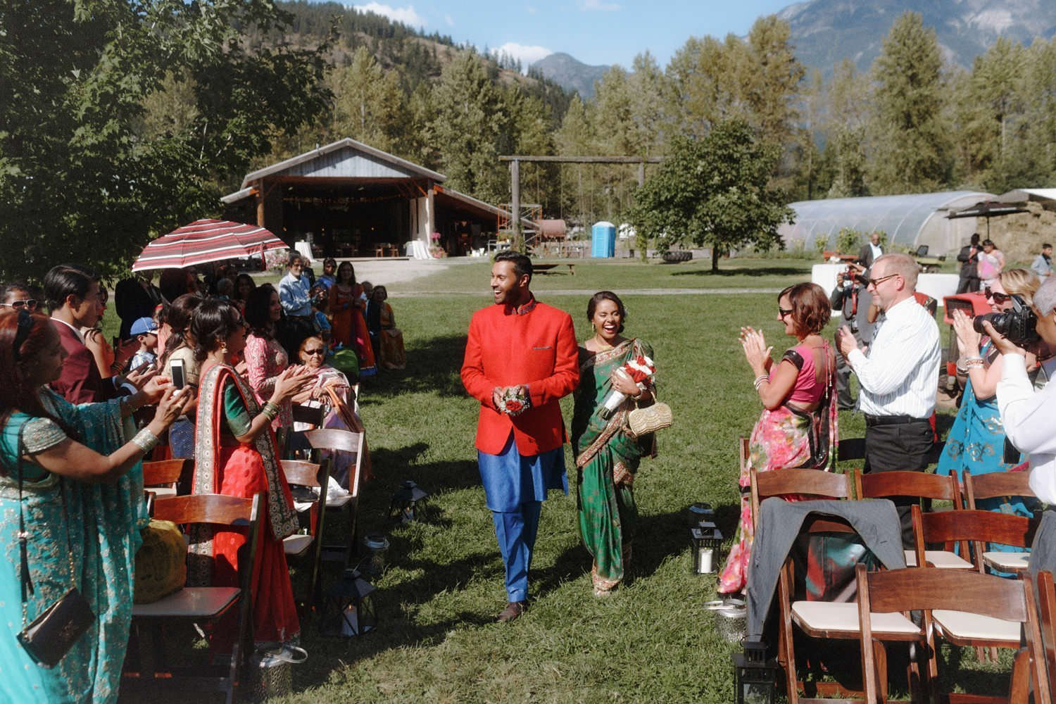 outdoor hindu wedding pemberton