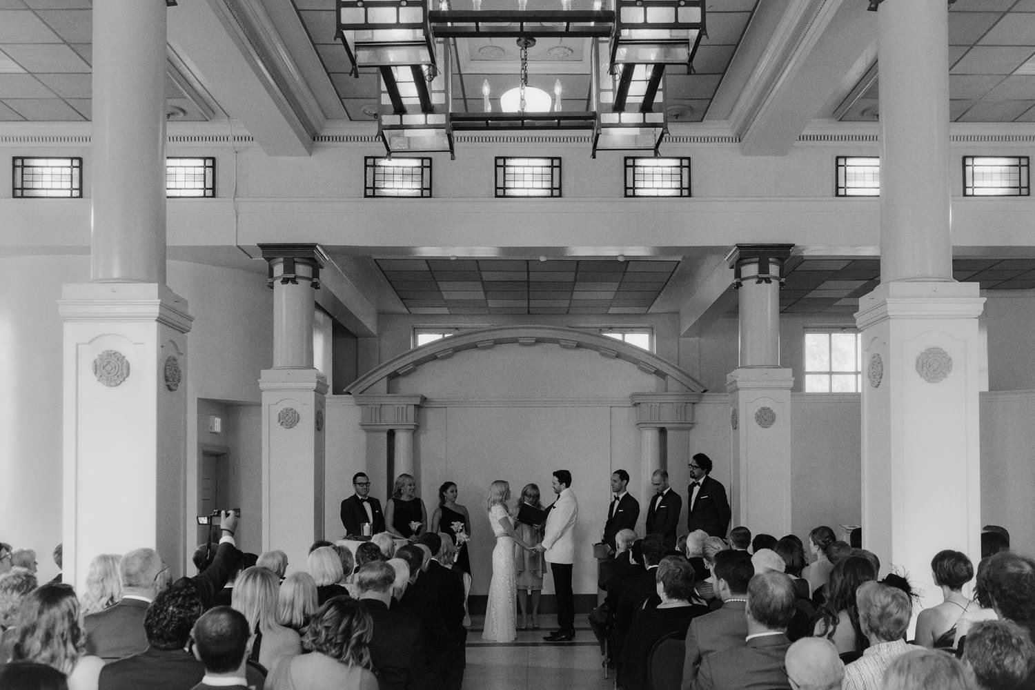 top art deco vancouver wedding venues featuring heritage hall